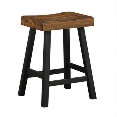 Bee Willow Home 24 Inch Saddle Bar Stool In Black In 2020