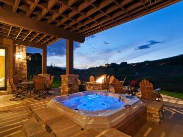 Hot Tub Deck Design Ideas Pictures Remodel And Decor