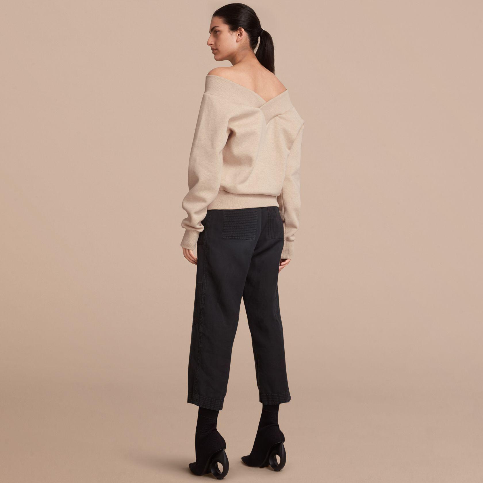 43f098e20fb Sweat-shirt avec épaules dénudées (Camaïeu De Grèges) - Femme ...