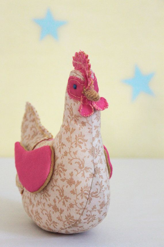 Chicken stuffed animal plush hand made doll Spring Pullet farm ...