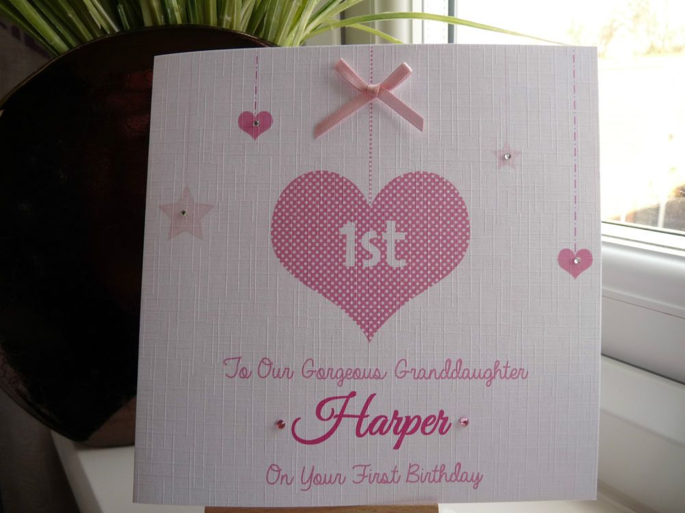 Handmade Personalised 1st Birthday Card First 2 3 4 Girl Daughter