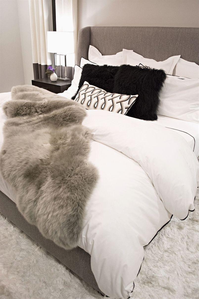 Cozy Neutral And Layered Modern Bedroom Philadelphia Magazine S