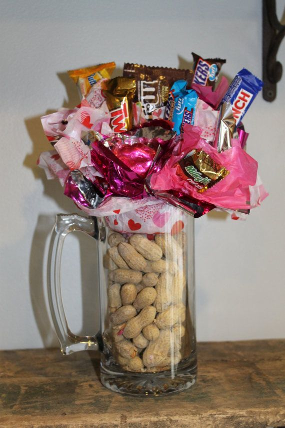 Valentines Day Candy Bouquet in Beer Mug with by BetsysCrafty ...