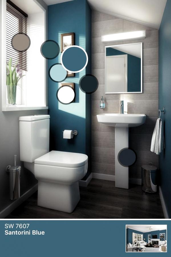 Bathroom Smallbathroom Love The Color Scheme Home In 2019 Small Bathroom Paint Through In 2020 Small Bathroom Paint Modern Bathroom Colours Small Bathroom Colors