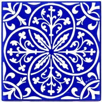 Fleur-de-lis & leaves renaissance tile - wall plaque - trivet rt-8 -  # #renaissanceart