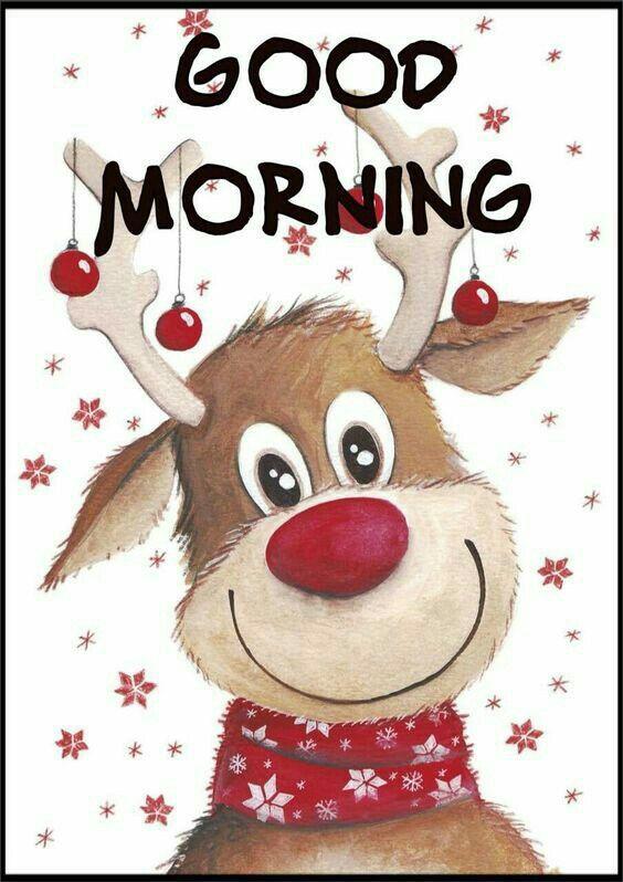 good morning reindeer good morning for autumn winter. Black Bedroom Furniture Sets. Home Design Ideas