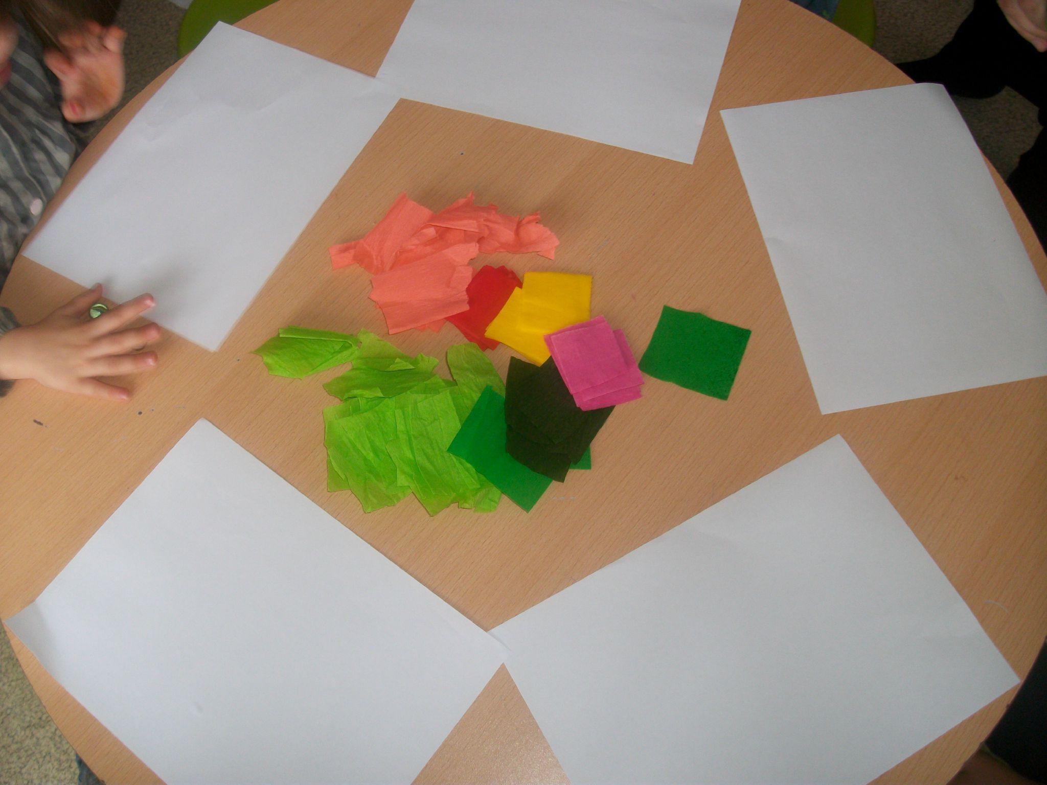 Activit manuelle pour maternelle fashion designs - Activite avec papier crepon ...