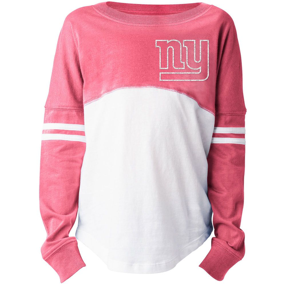 a38c3151 Girls Youth New York Giants 5th & Ocean by New Era White/Pink ...
