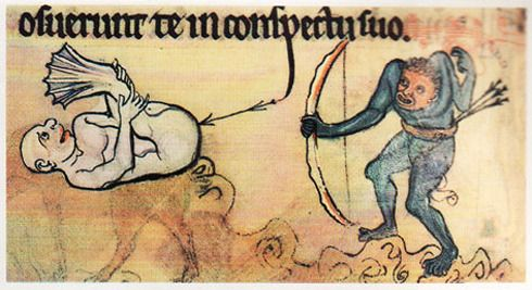 Photo of Weird Medieval Marginalia (Manuscript Art)