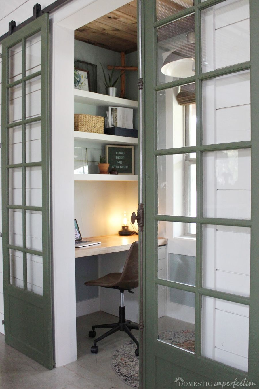 Small home office   #homeoffice #smallspaces #office #famhouseoffice