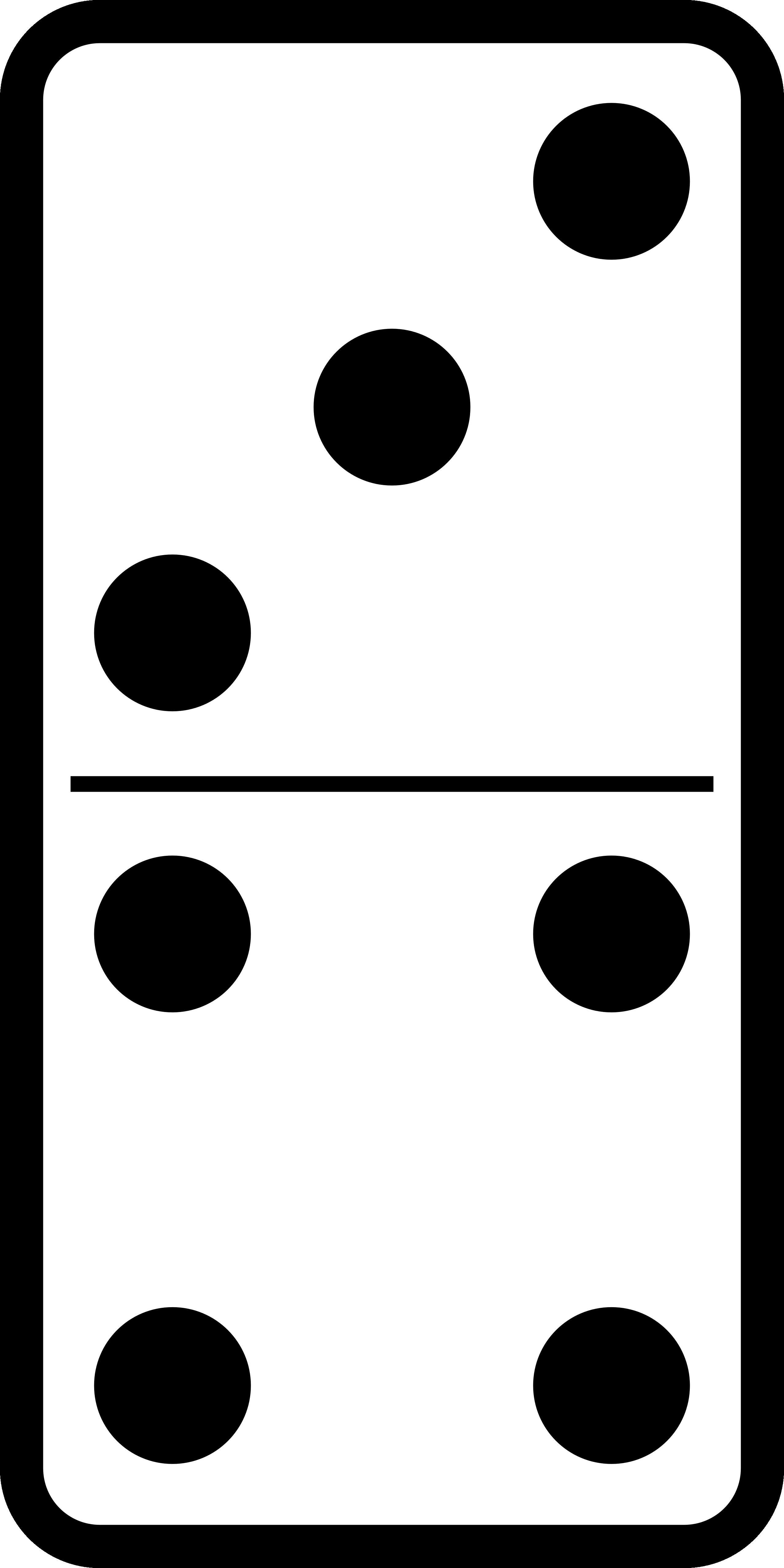 Domino Set 19 Black White