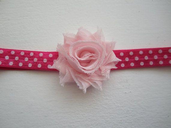 Light Pink 1.5 Mini Shabby Chiffon Flower by MelissaRevierDesigns