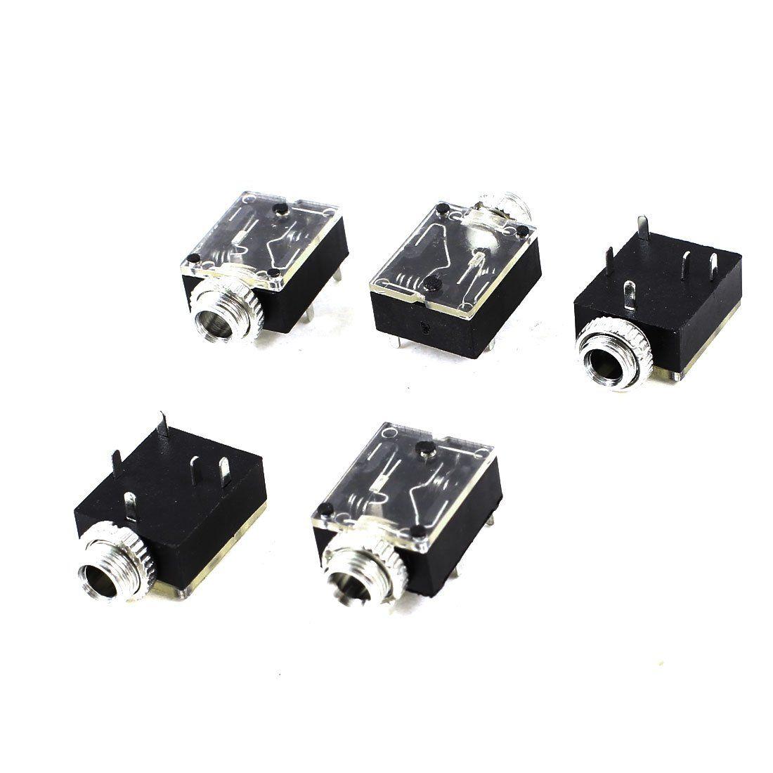IMC Hot 5 Stücke 5 Pin 3,5mm Audio Mono Jack Socket PCB Plattenmontage für Kopfhörer