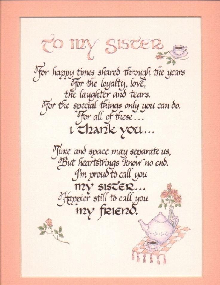 1715da3060e340444c6fca3b3c0cfa06 Jpg 736 952 Sister Birthday Quotes Cute Sister Quotes Sister Quotes