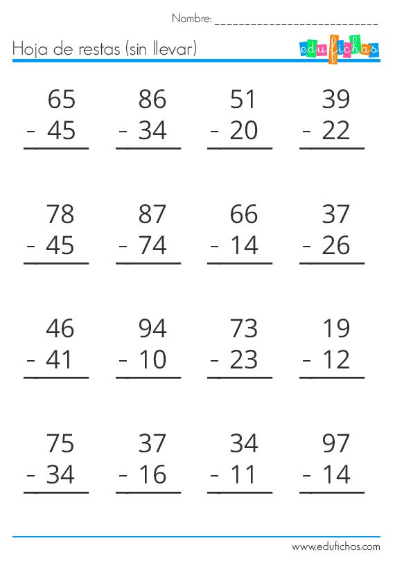 Descarga Nuestro Cuadernillo De Restas Gratis En Pdf Material Educativo Gratis Para Imprim Actividades De Resta Ejercicios De Calculo Prácticas De Matemáticas