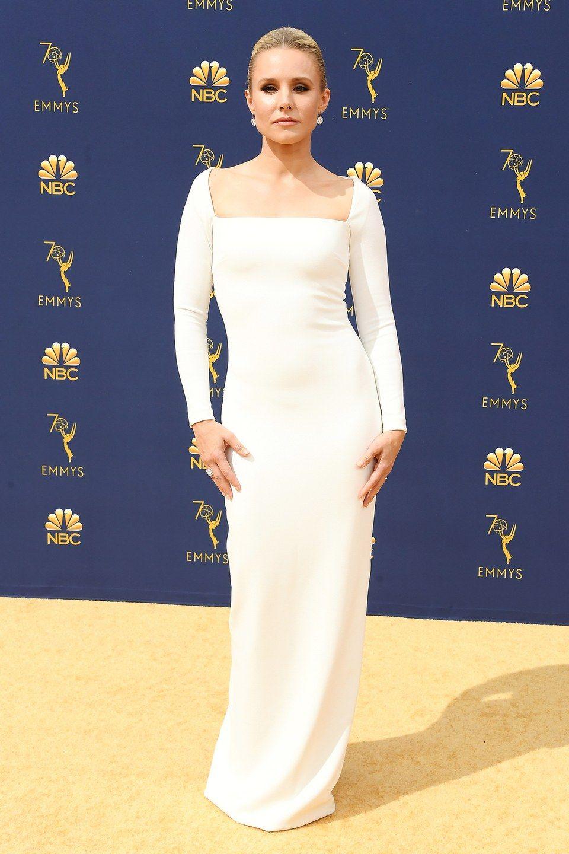 Kristen Bell Wearing Solace London. Red carpet dresses