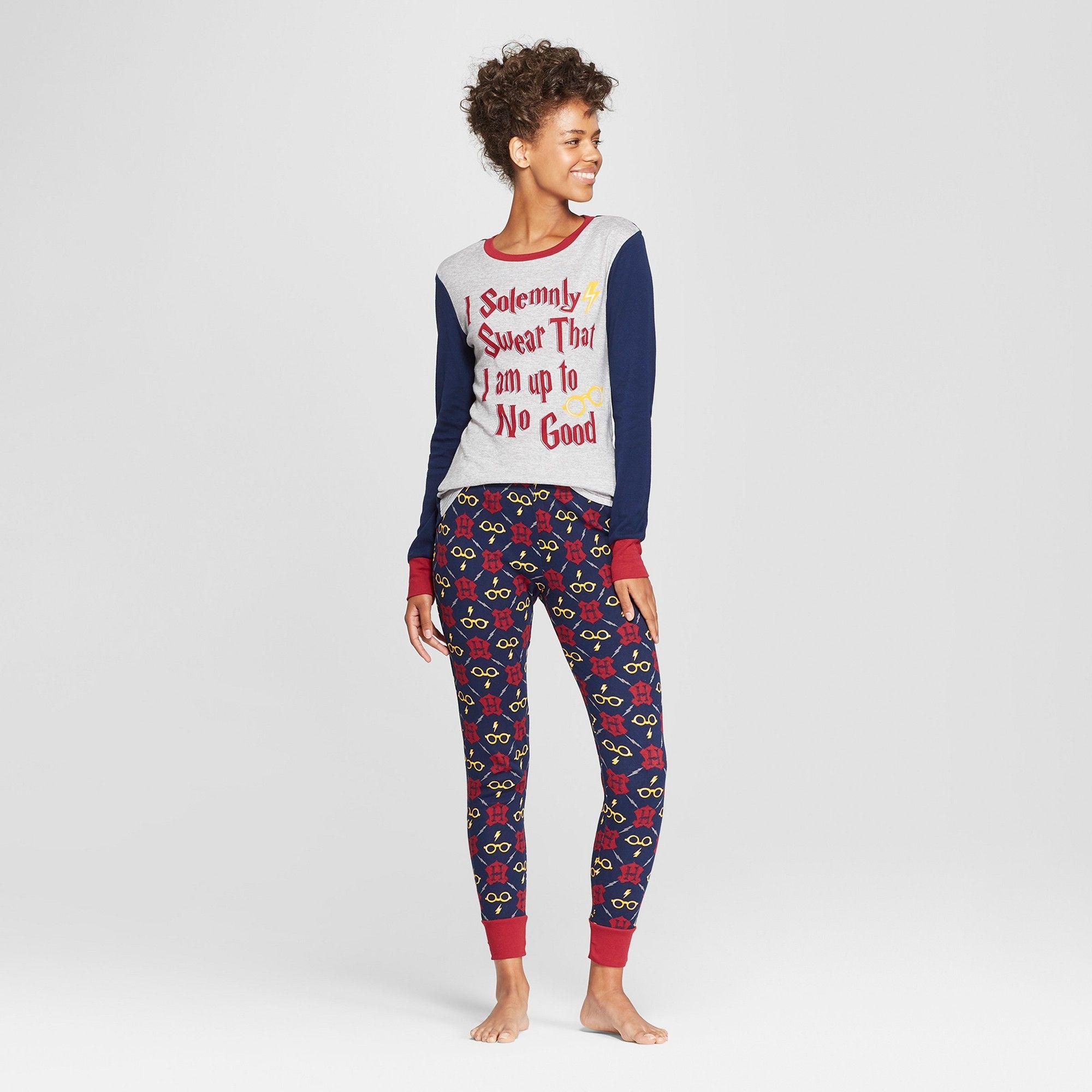 d5b4fb3c8de8 Women s Harry Potter Pajama Set - Navy Xxl