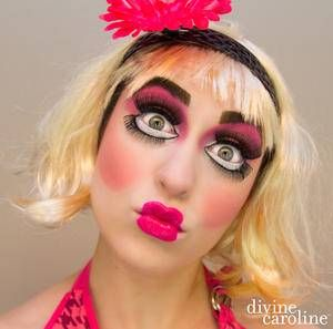 If you want your Halloween look to be the perfect mix of creepy and cute, try this living doll makeup. It's fun and and a bit kooky, and will definitely have people talking!