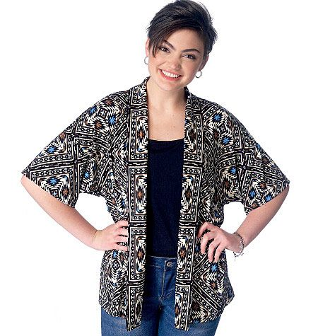 Kimonos are on-trend and easy to sew. McCall\'s M7200, Misses ...