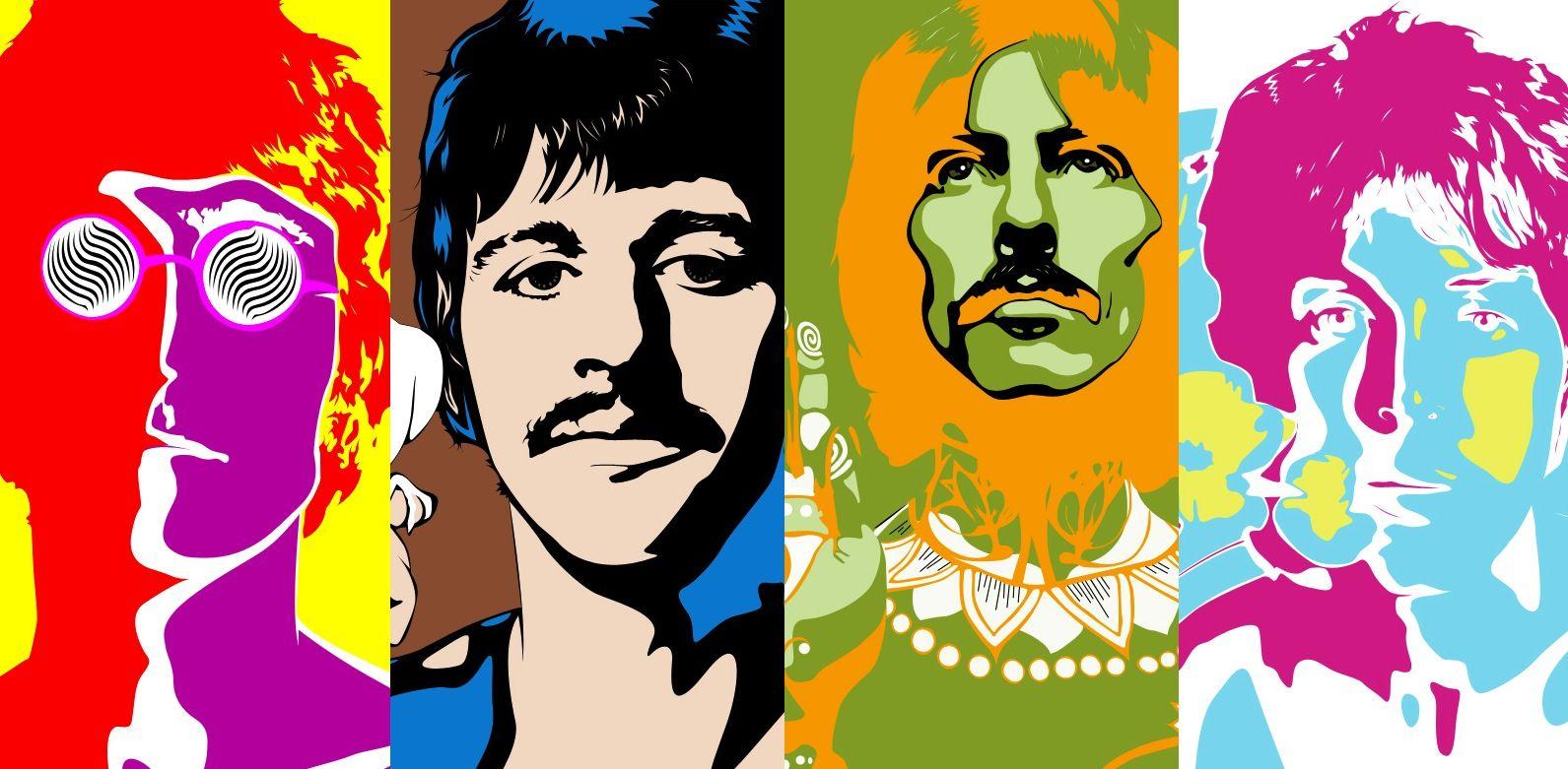 Peter Max Beatles Album Cover