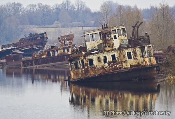 Chernobyl: Ships abandoned after the rescue operation