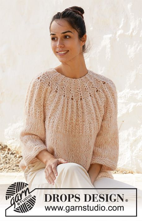 Summer Peach / DROPS 212-26 - Free knitting patterns by DROPS Design