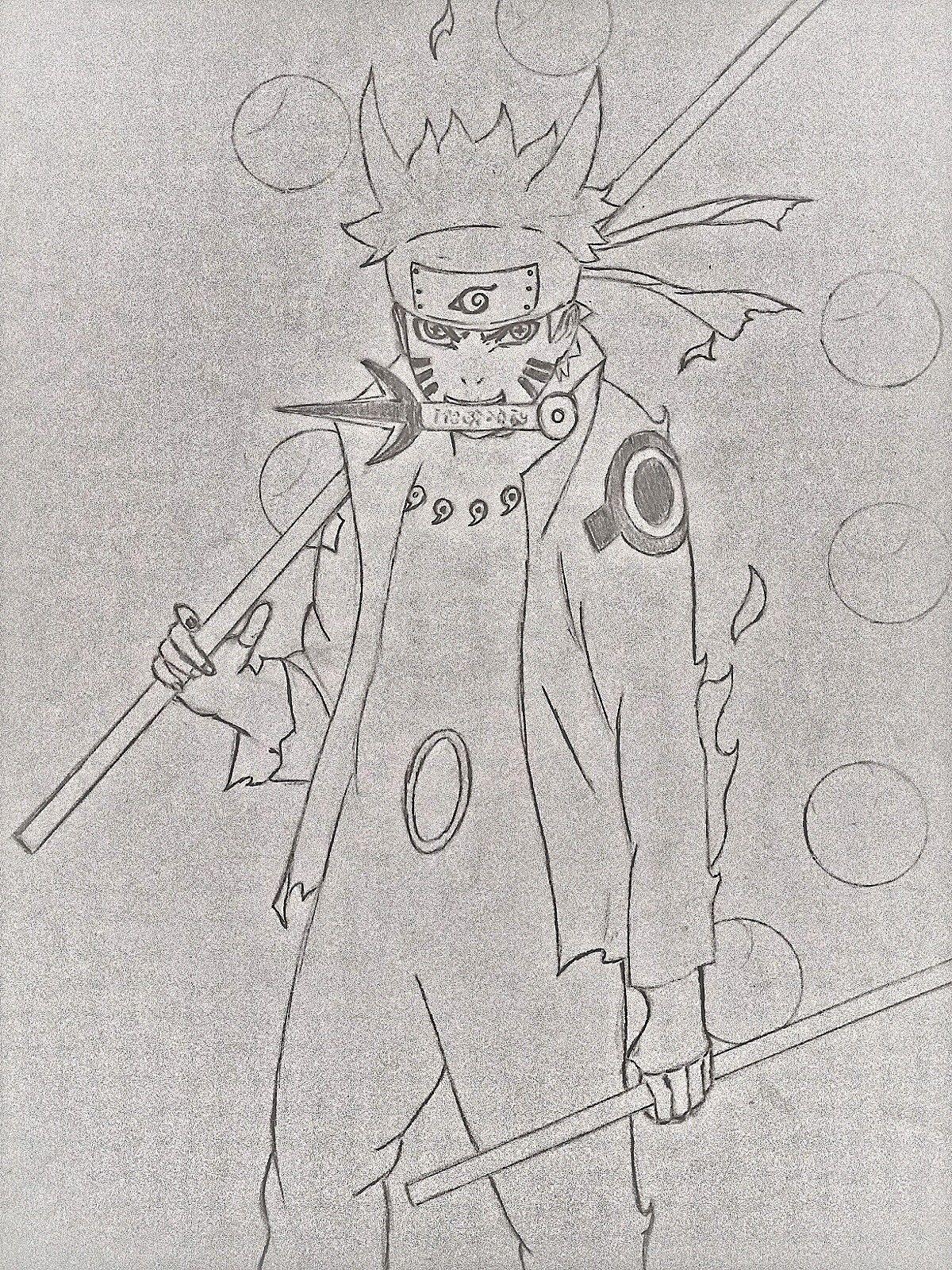 Naruto modo sabio seis caminos | drawings.dibujos | Pinterest ...