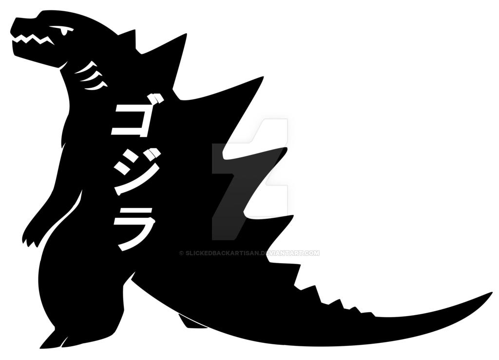 Godzilla 2014 Vector Black By Slickedbackartisan On Deviantart Godzilla Godzilla 2014 Illustration