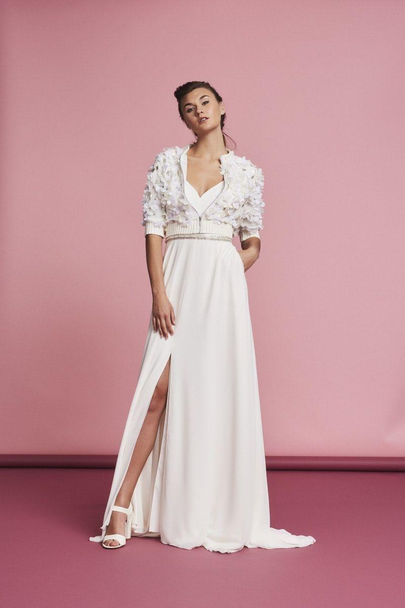 Esme Jacket by Savin London floral bridal bomber jacket cool bridal ...