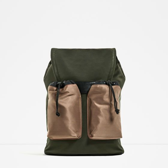 84eb0e13612 Image 6 of CASUAL KHAKI BACKPACK from Zara