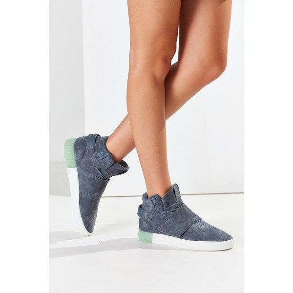 adidas Originals Tubular Invader Strap Sneaker (425 ILS) ? liked on  Polyvore featuring shoes