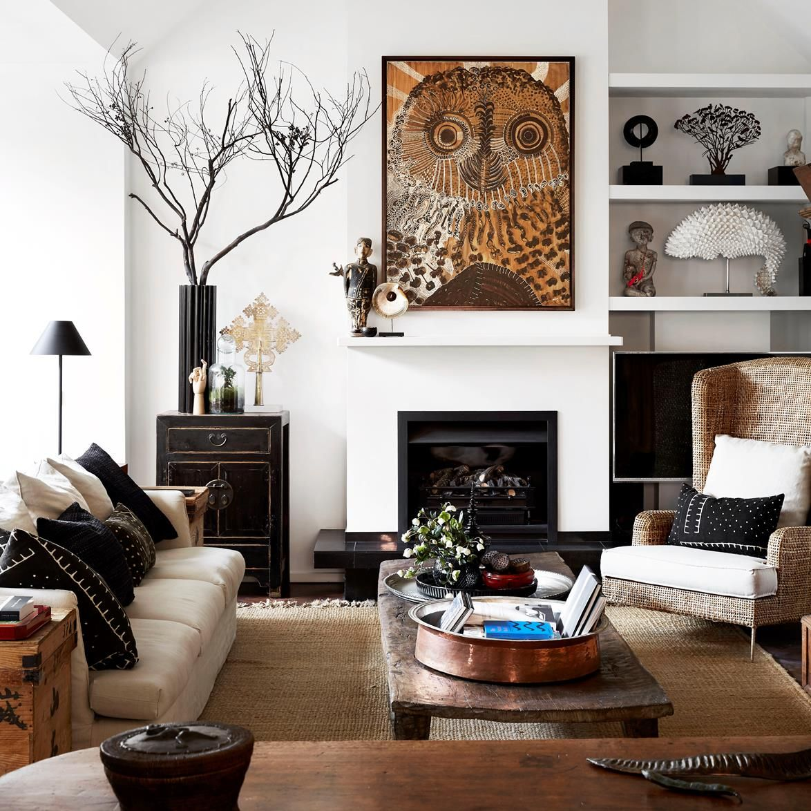 Inside the expertly curated home of a designing couple in Melbourne.