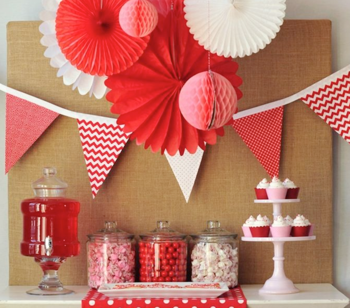 sweet simple be my valentine party dessert table - Valentine Birthday Party Ideas