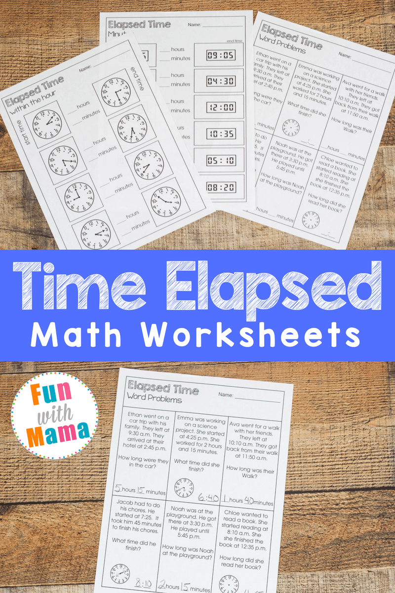 Elapsed Time Worksheets Elapsed Time Worksheets Time Worksheets Elapsed Time