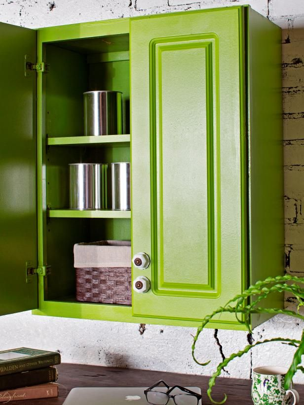 The experts at DIY Network explain in a few simple steps, how to transform low-cost, ready-made cabinets into designer statement pieces.