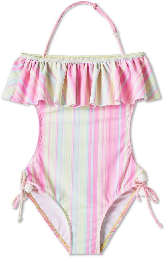3675c50159a8b Stella Cove Pastel Open Back One-Piece Swimsuit   Products ...