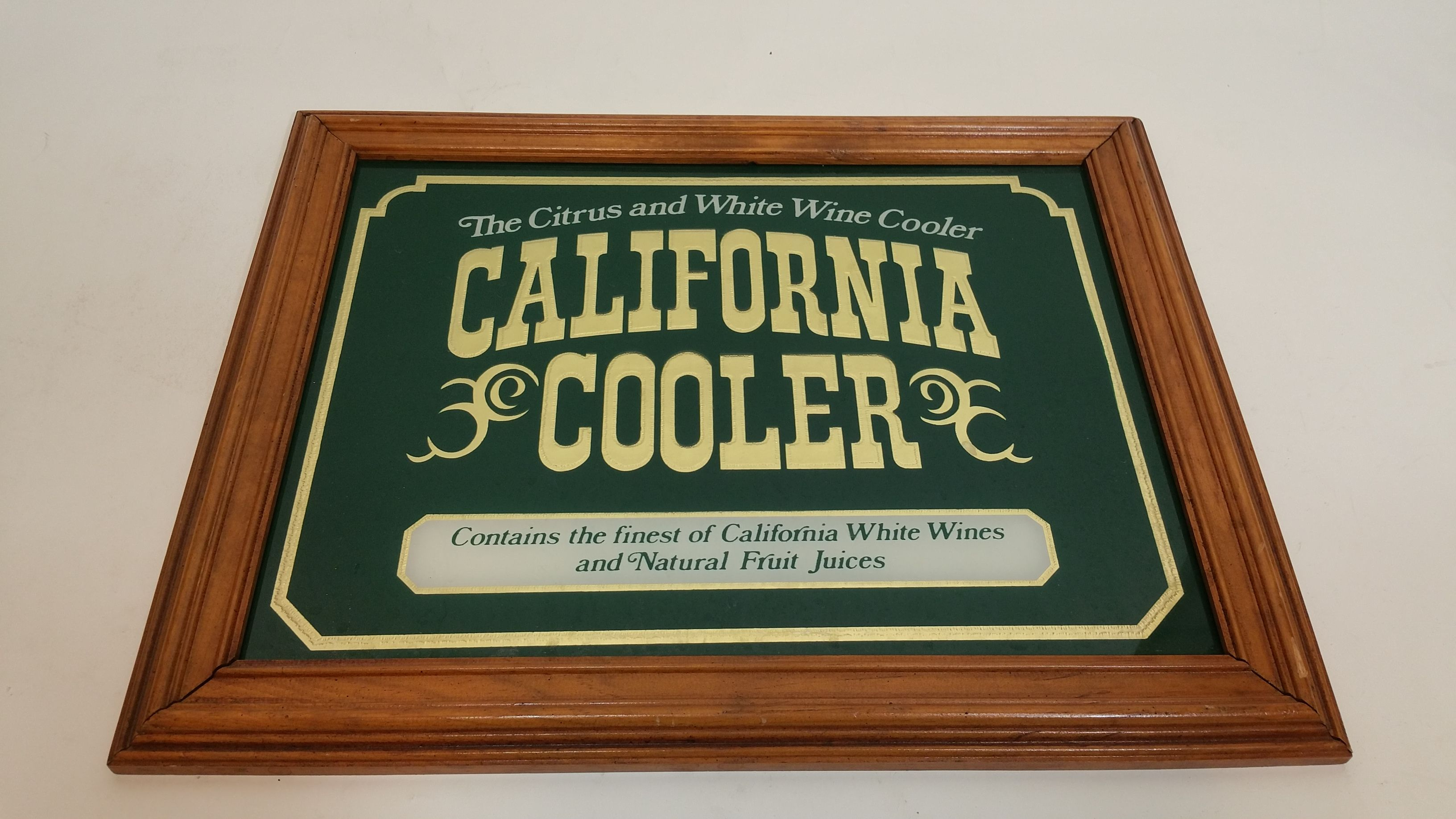 Bar Decor Signs California Cooler Wine Bar Mirror  Bar Decoration Decor Sign