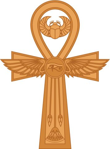 """Shaped as a cross with a circle/loop for the top part, the ankh is the most commonly used symbol among the ancient Egyptian symbols. Many Egyptian gods, Isis in particular, were depicted holding the ankh in numerous inscriptions.Also known as crux ansata, which means """"the cross with a handle"""" in Latin, the ankh symbol is"""