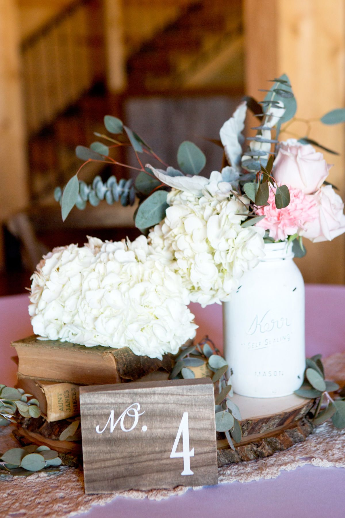 Unique Rustic Barn Wedding Centerpieces