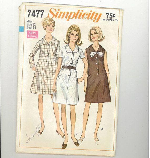 Vogue UNCUT Sewing Pattern Vintage Sewing Pattern 7477 Sewing Blouse Pattern Vintage Sewing Patterns 80s Sewing Pattern