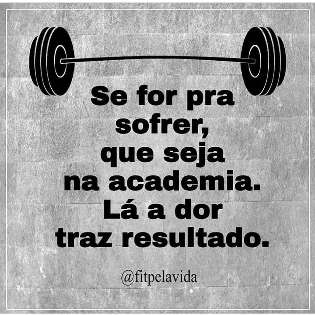 💪 - #academia #fitness #nopainnogain  #treino #dieta #foco #saude #mus...