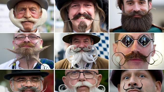 350 Bartträger aus 20 Nationen nahmen an der Weltmeisterschaft der Bärte teil.