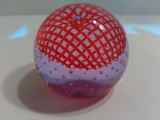 SCOTTISH CAITHNESS GLASS SIGNED PAPERWEIGHT BLUSHES