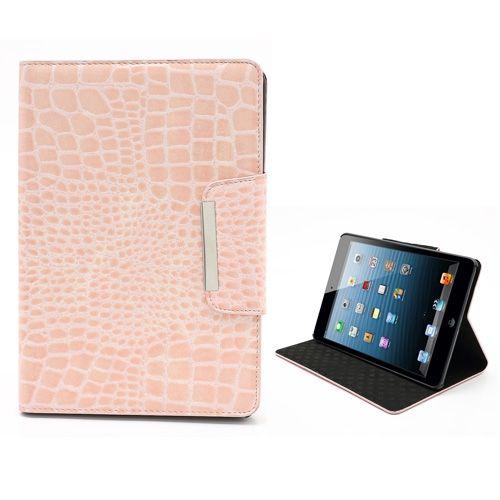 PhoneJunkie.nl | iPad Mini | Roze krokodil case en standaard in 1