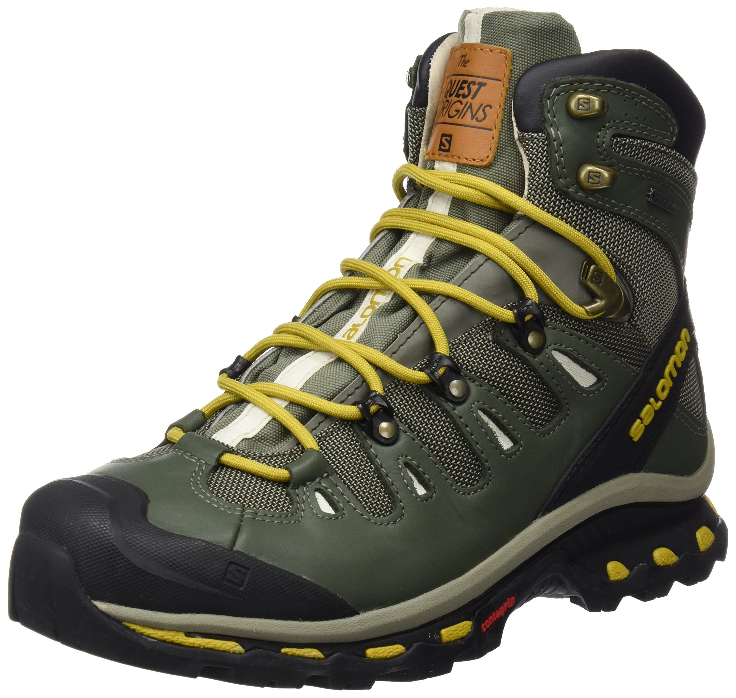 Salomon Mens Quest Origins 2 GTX Hiking Boots Grey Leather 9