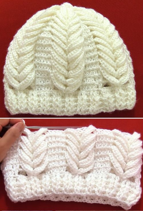 Crochet Hat with Spikes of Wheat - Tutorial (Beautiful Skills ...