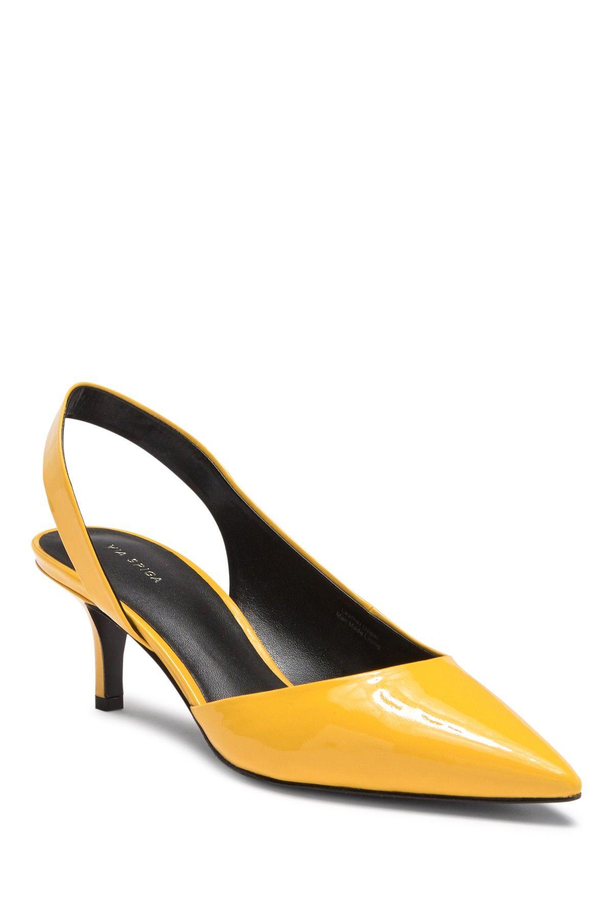 Via Spiga Marty Patent Leather Kitten Heel Pump Hautelook Heels Kitten Heels Pumps Heels