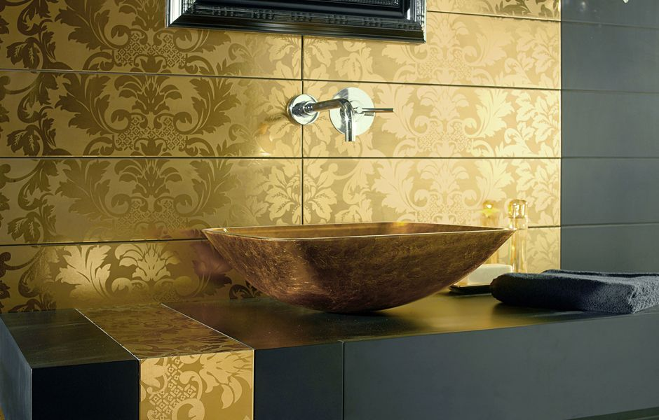 Dune   Lavabo Quadro Dorato | Dcasa.it #gold #sink #design #bathroom