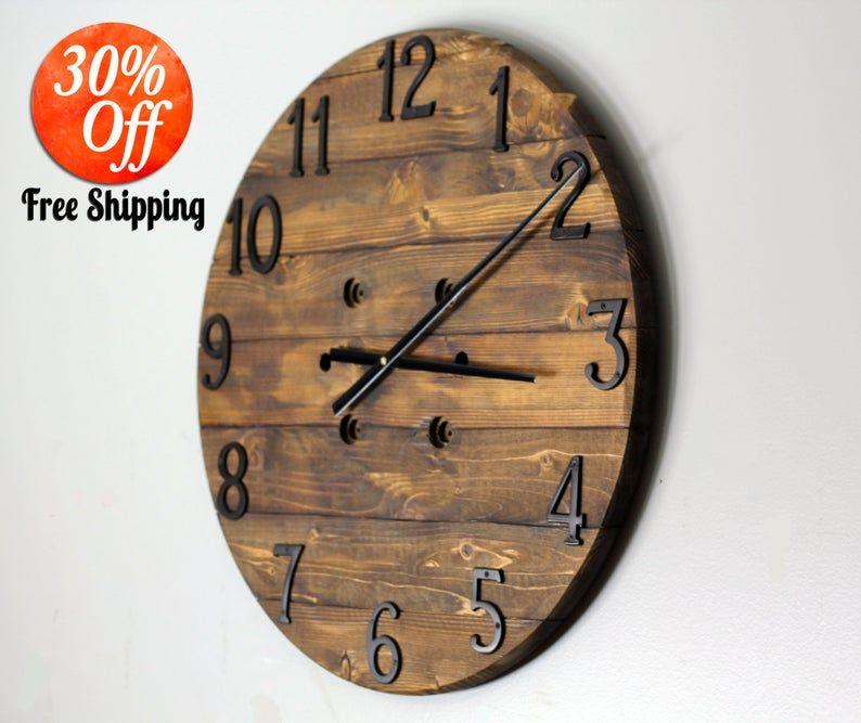 Clock Wall Clock Desk Clock Large Wall Clock Table Etsy In 2020 Wood Clocks Custom Wall Clocks Family Wall Clock