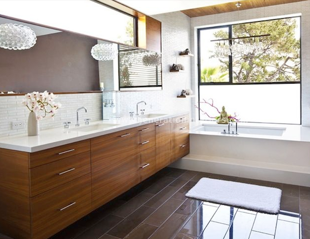 Organic Modern Bathroom Design Modern Master Bathroom Mid